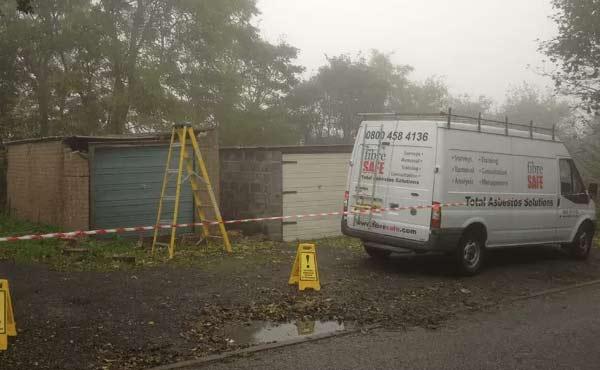 Fibre Safe van in Wrexham