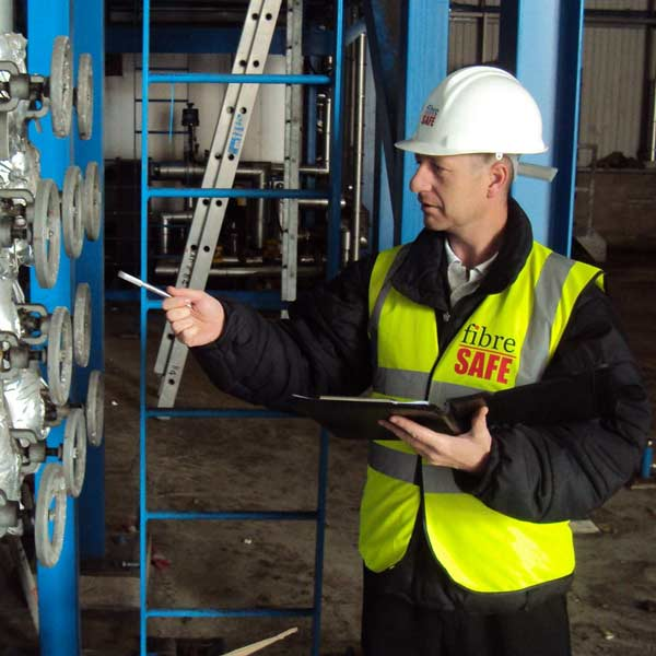 Fibre Safe worker in factory