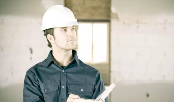 Worker in hard hat
