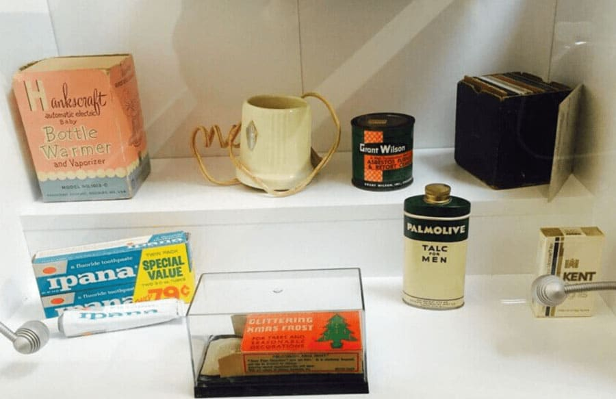 Old examples of products made from Asbestos