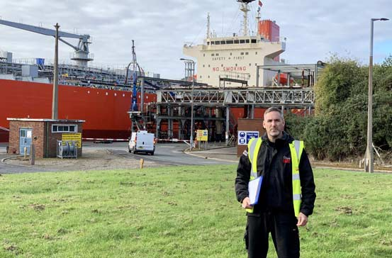Phil Keary Fibre Safe working at the docks