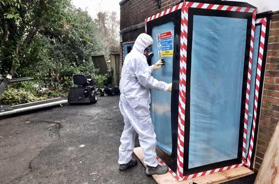 Fibre Safe worker reoving asbestos