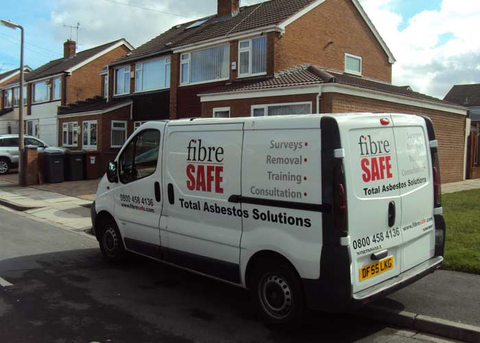 Fibre Safe van outside house in Chester