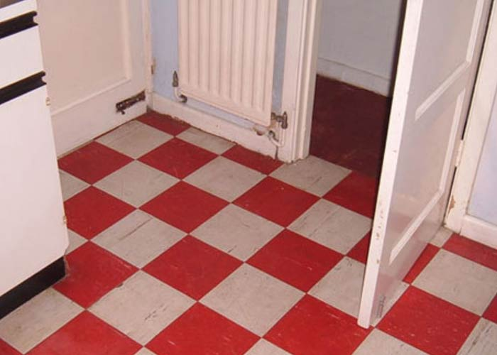 Lino Tiles at house in Chester made from Asbestos