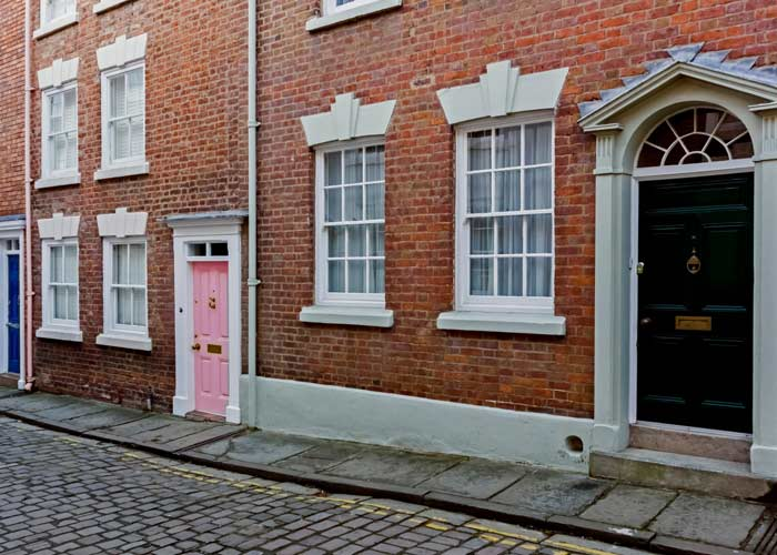 image of georgian houses in chester