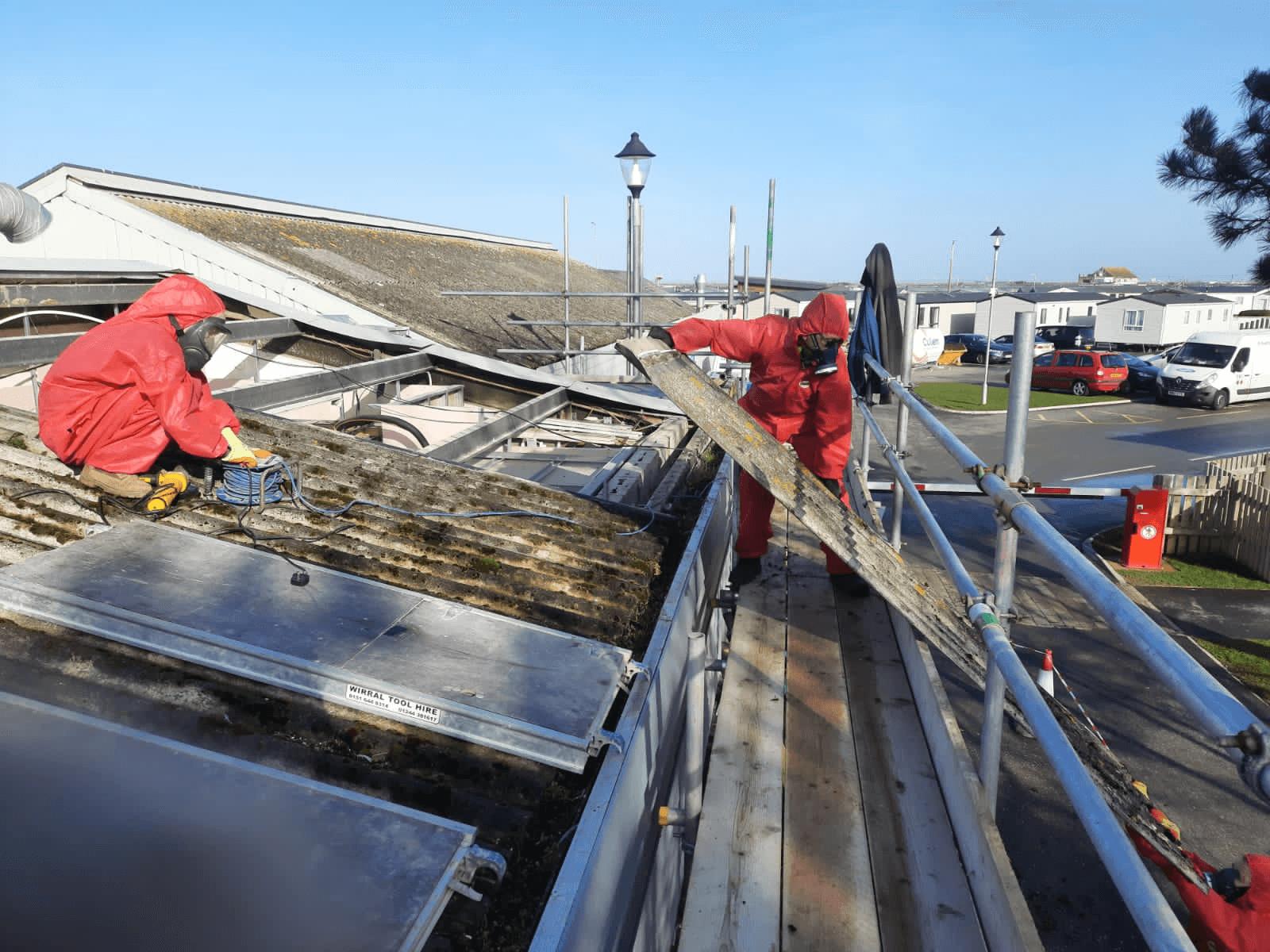 North Wales holiday park asbestos check